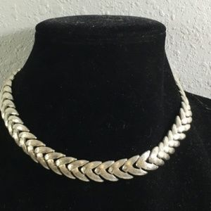 Napier Silvertone Metal Chunky Fashion Necklace